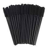 Щіточка для вій силіконова ручка чорна, ворс чорний (50шт/уп), фото 3