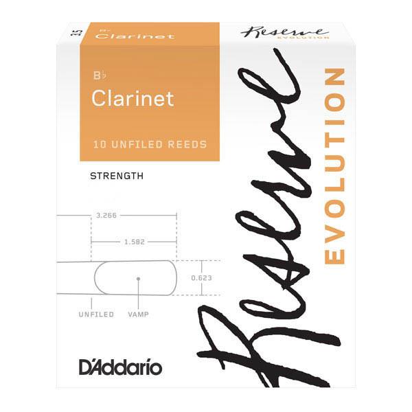 Тростини для кларнета d'addario DCE10355 Reserve Evolution Bb Clarinet #3.5+ - 10 Box