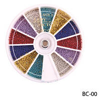 Цветные бульонки в круглой таре Lady Victory LDV BC-00 /89-0