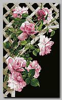 """Схема для частичной вышивки бисером """"Розы на решетке"""""""