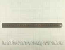 Линейка измерительная металлическая 30 см, двусторонняя шкала
