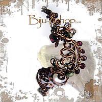Шедевры в мире моды: Авторские каффы из меди, золота и серебра, украшены натуральными камнями