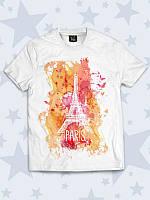 Очаровательная детская футболка Paris art, фото 1