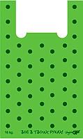 Пакеты майка 30*50 Горошек, GoodPack зеленый