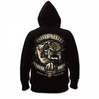Толстовка Rothco USMC Bulldog Hoodie Black
