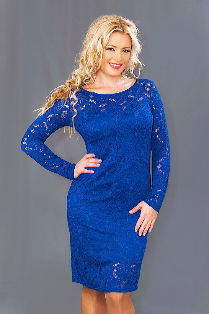 Женское гипюровое платье  (48-54) 8084