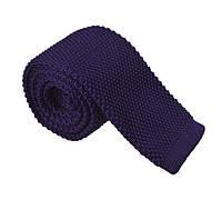 Галстук мужской вязаный тёмно-фиолетовый