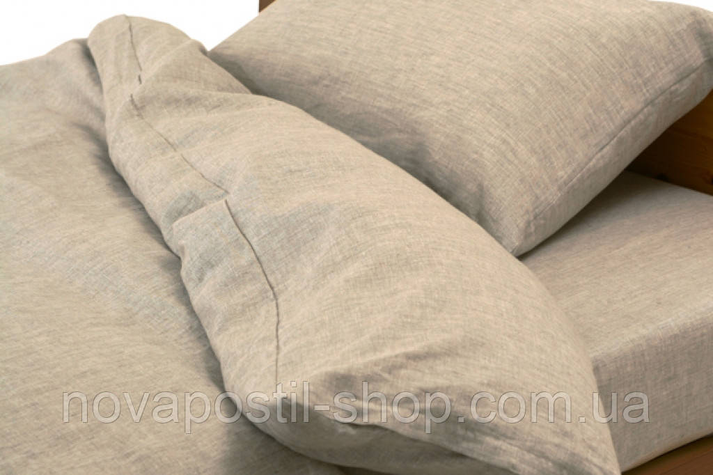 Детское льняное постельное белье (в кроватку)