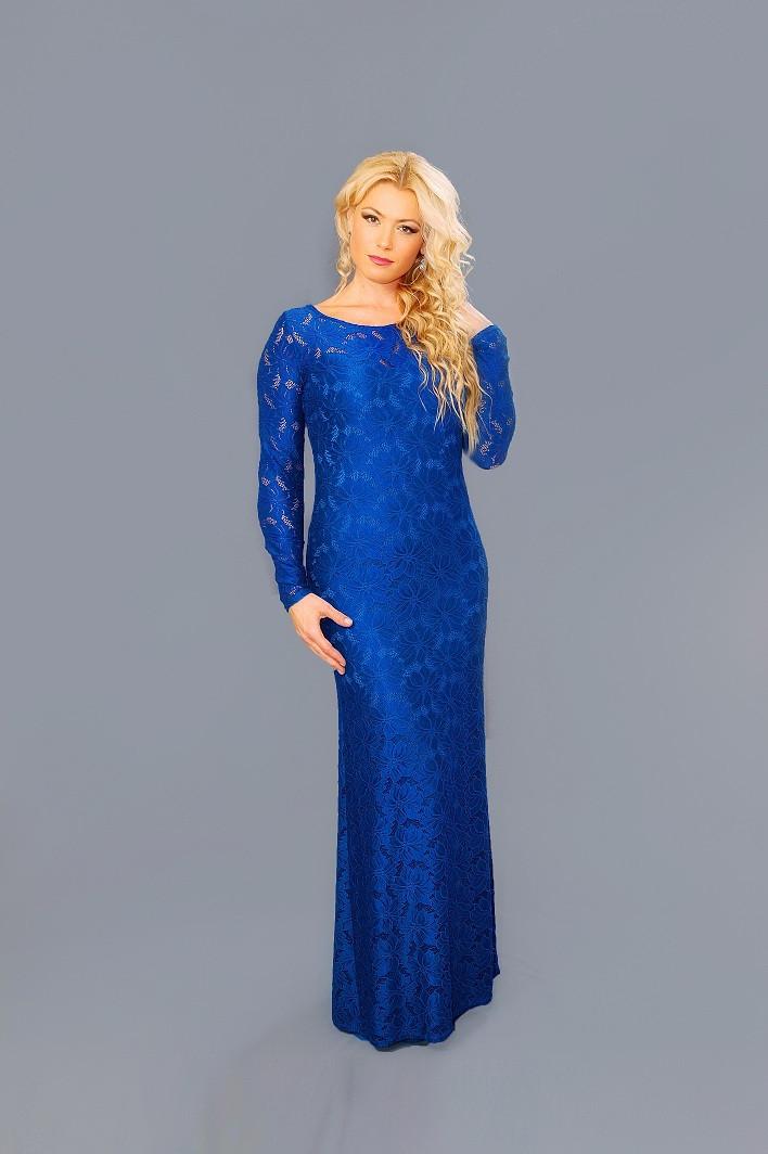 Женское гипюровое платье в пол (48-54) 8083.2