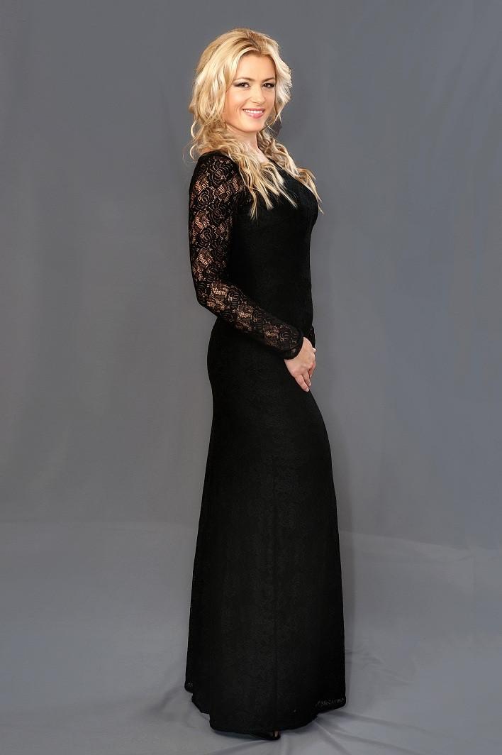 Женское гипюровое платье в пол (48-54) 8083.1