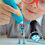 3D Ручка для детей 3Doodler Start для детского творчества - Креатив (синяя), фото 5