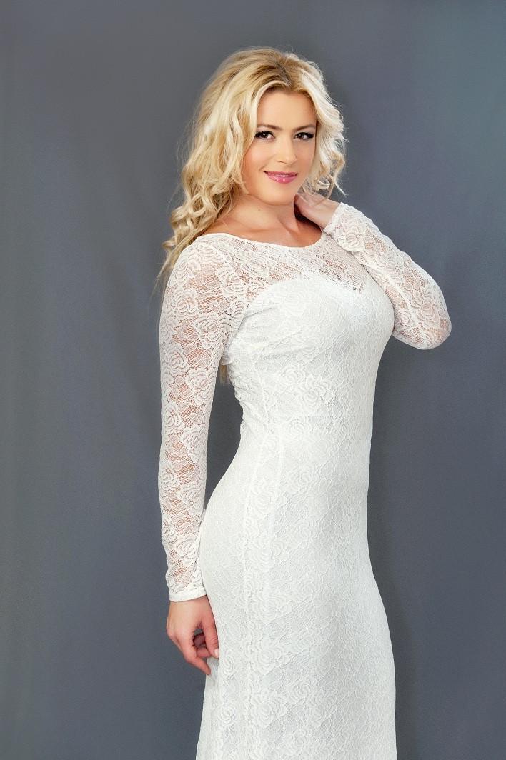 Женское гипюровое платье в пол (48-54) 8083.3