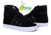 Кроссовки, Adidas AdiTennis High Fur Black, фото 1