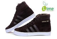 Кроссовки, Adidas AdiTennis High Fur Brown, фото 1