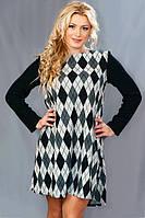 Женское ангоровое платье  (46-56) 8085