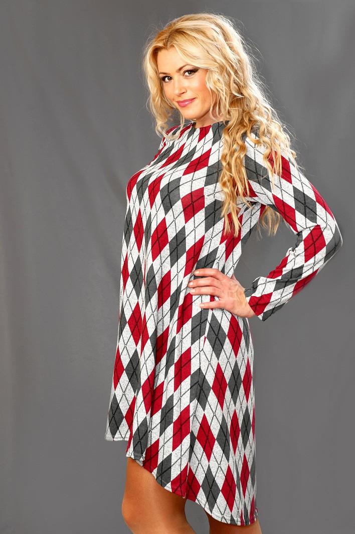 Женское ангоровое платье  (46-56) 8086