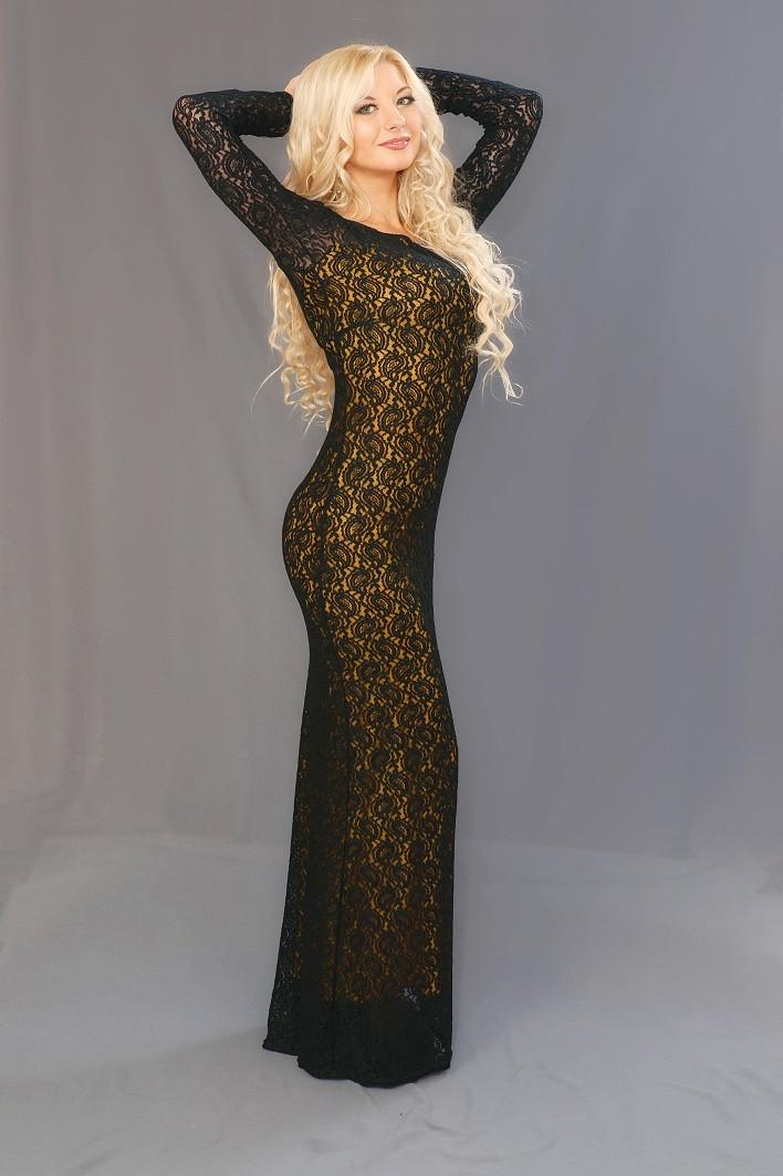 Женское гипюровое платье в пол (42-52) 8095
