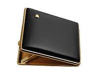 Портсигар 905101 д. 26/22 Super KS сигарет, кожа черн.гладкая/золото, пружинка