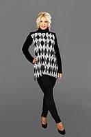 Женская блуза - туника ангора (42-58) 8092