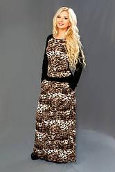 Женское ангоровое леопардовое платье 8077 (42-56)