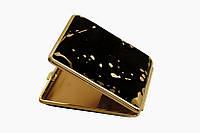 Портсигар 901174 д. 18 KS сигарет, замш черн+золото/золото, резинка