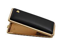 Портсигар 904101 (80200) д.14 Super KS сигарет, кожа черн.гладкая/золото
