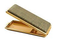 Портсигар 904184 д. 14 Super KS сигарет,эко-кожа тверд. нап.золото/золото
