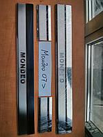 Накладки на пороги на Форд Мондео с 07-15 (нерж) 4-шт. OMCARLINE Турция.