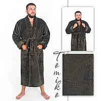 Халат чоловічий махровий шаль хакі. Халат чоловічий махровий шаль хакі. 52-60., фото 1