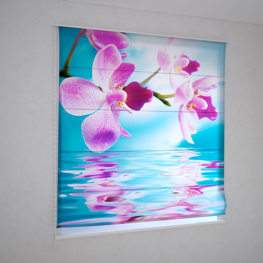 Римські фотошторы рожева орхідея над водою
