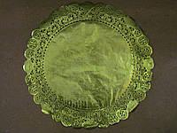 Салфетка ажурная, золотая, 35 см