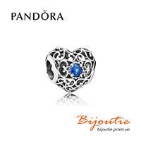 Pandora шарм СЕРДЦЕ-ТАЛИСМАН 791784NLB серебро 925 Пандора оригинал