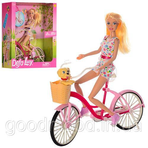 Лялька DEFA 8276 велосипед, собачка, 2 види, кор., 29,5-31,5-9,5 див.
