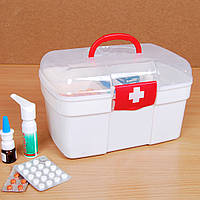 Аптечка Домашняя, контейнер для аптечки, коробка для лекарств (ПУСТАЯ)