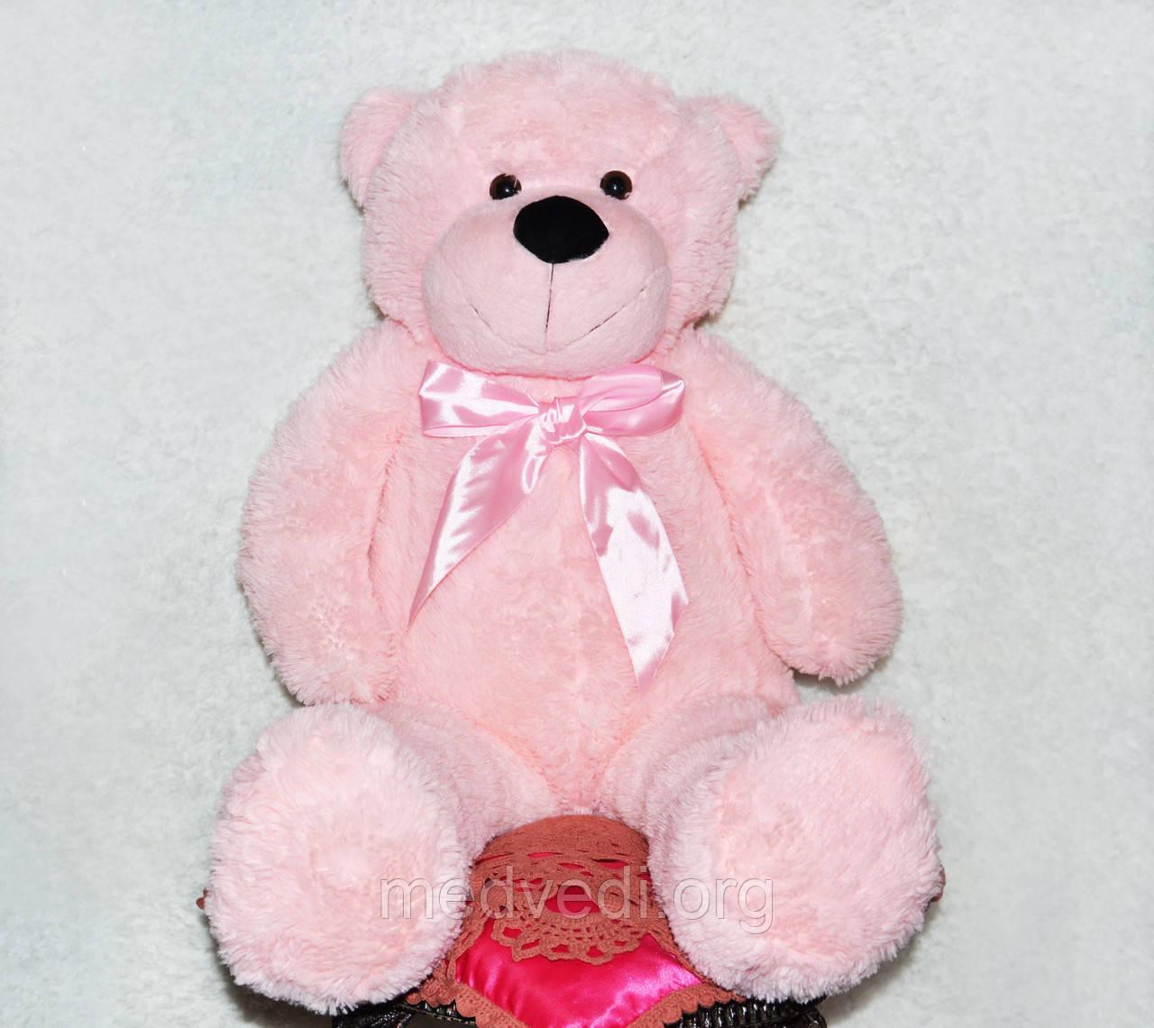 Розовый плюшевый мишка, игрушка мягкий медведь 100 см