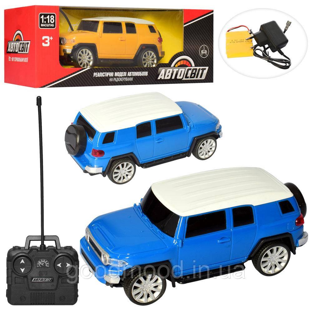 Машина AS-2209 АвтоСвіт, радіокер., акум., 1:18, гум.колеса, 2 кольори, світло, кор., 32-11-13 см.