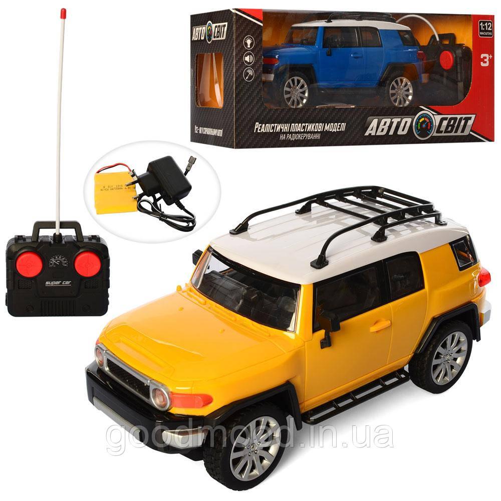 Машина AS-2201 АвтоСвіт, радіокер., акум., 1:12, 2 кольори, гум.колеса, світло, кор., 46-18-19 див.