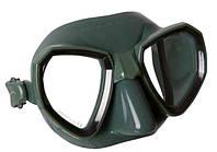 Маска для подводной охоты Salvimar Maxale; зелёный силикон; чёрная рамка, фото 1