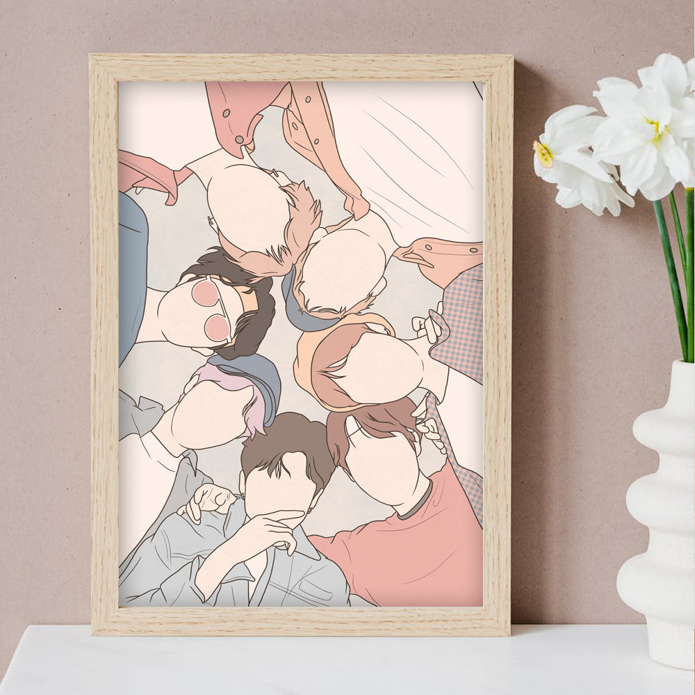 Постер BTS Friendship формат А3