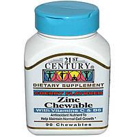 Цинк жевательный, 21st Century Health Care, 90 таблеток