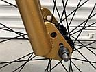 Дитячий підлітковий велосипед TopRider BMX-5 колеса 20 дюймів золотий, фото 4