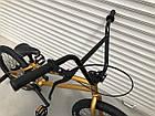 Дитячий підлітковий велосипед TopRider BMX-5 колеса 20 дюймів золотий, фото 6