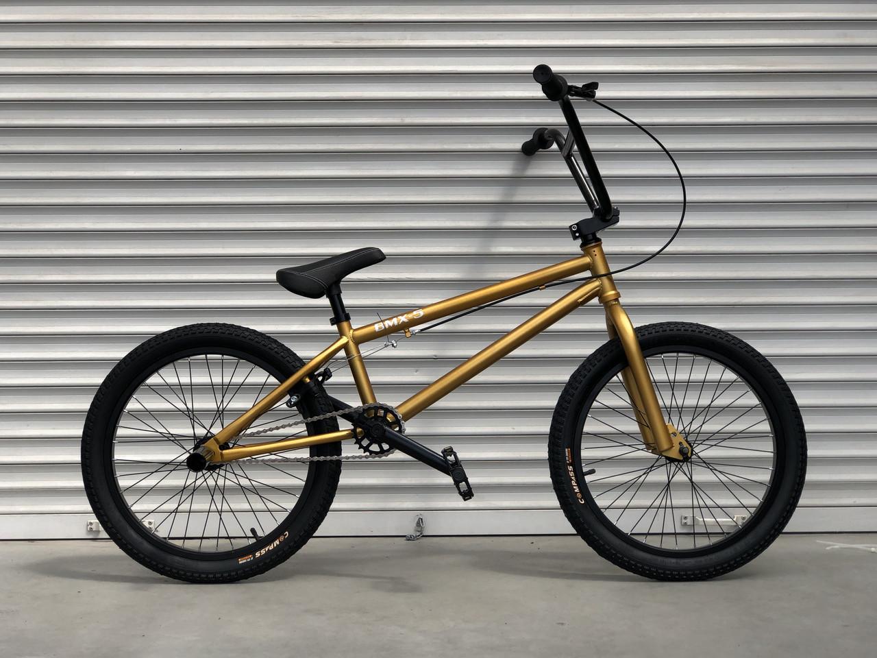 Дитячий підлітковий велосипед TopRider BMX-5 колеса 20 дюймів золотий