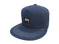 Синяя кепка Stussy