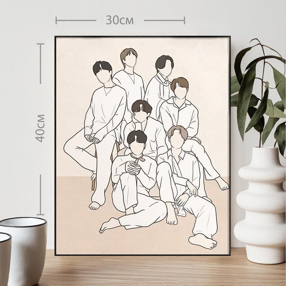 Постер BTS Dicon Cover БТС формат А3