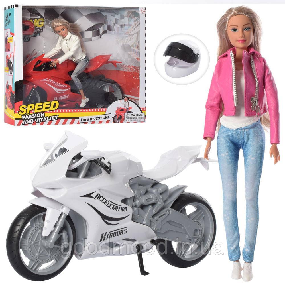 Лялька DEFA 8459 шарнірна, мотоцикл, 2 кольори, кор., 35,5-30-13см.