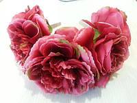 Яркий ободок с крупными цветами