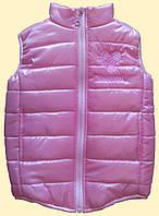 Жилет детский розовый, для девочки, р.98 см