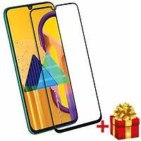 Защитное закаленное  cтекло для  Samsung Galaxy M31 c рамкой Черный, фото 1