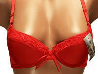 Бюстгальтер нулевочка, бюстгальтер классика размер АА. Красный бюстик. Опт и розница. Украина., фото 1